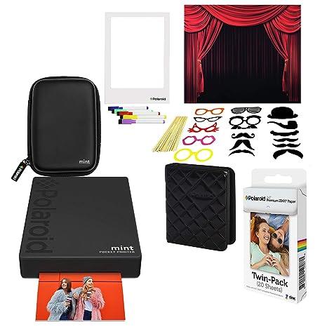 Polaroid Mint Impresora de Bolsillo Inalámbrica (Negro) Kit ...