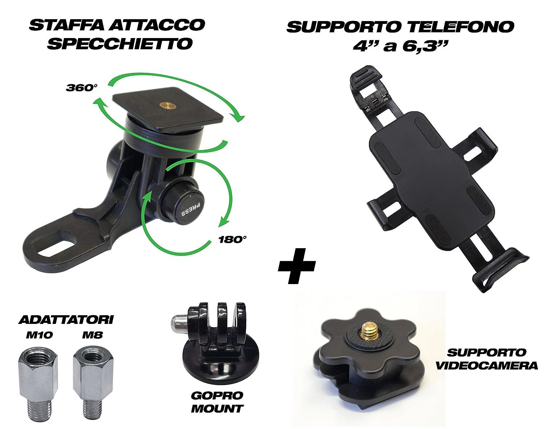 A-Parts AP//PC4 Porta Cellulare Attacco a Specchietto