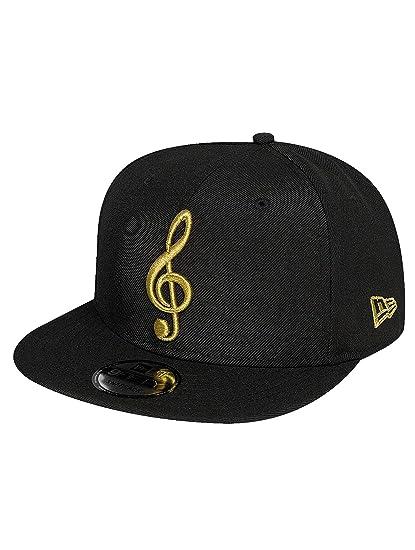 b6185d78 New Era Men Snapback Caps Music Note 9Fifty Black Adjustable: Amazon.co.uk:  Clothing