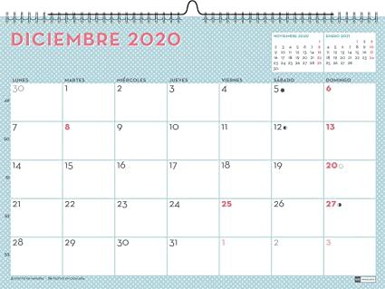 Miquelrius 28051 - Calendario de Pared A3 Lovely DIY 2020 Castellano: Amazon.es: Oficina y papelería