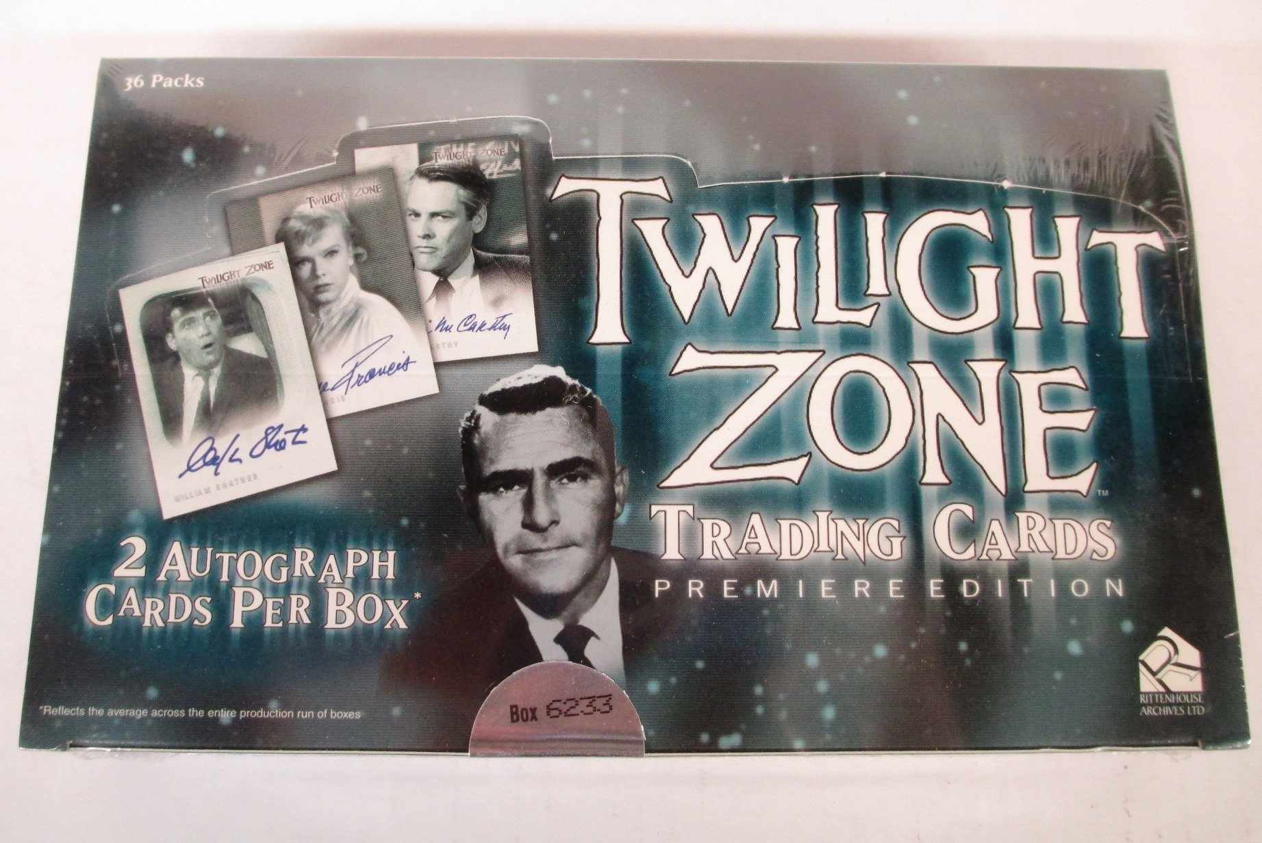 The Twilight Zone Premiere Edition Trading Cards Box Set with Autograph Card by Twilight Zone