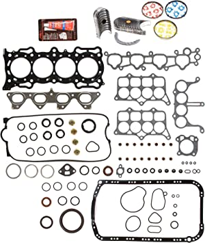 Full Gasket Set Pistons Bearings Fit 90-96 Honda Prelude Accord 2.2 F22A1 F22A6