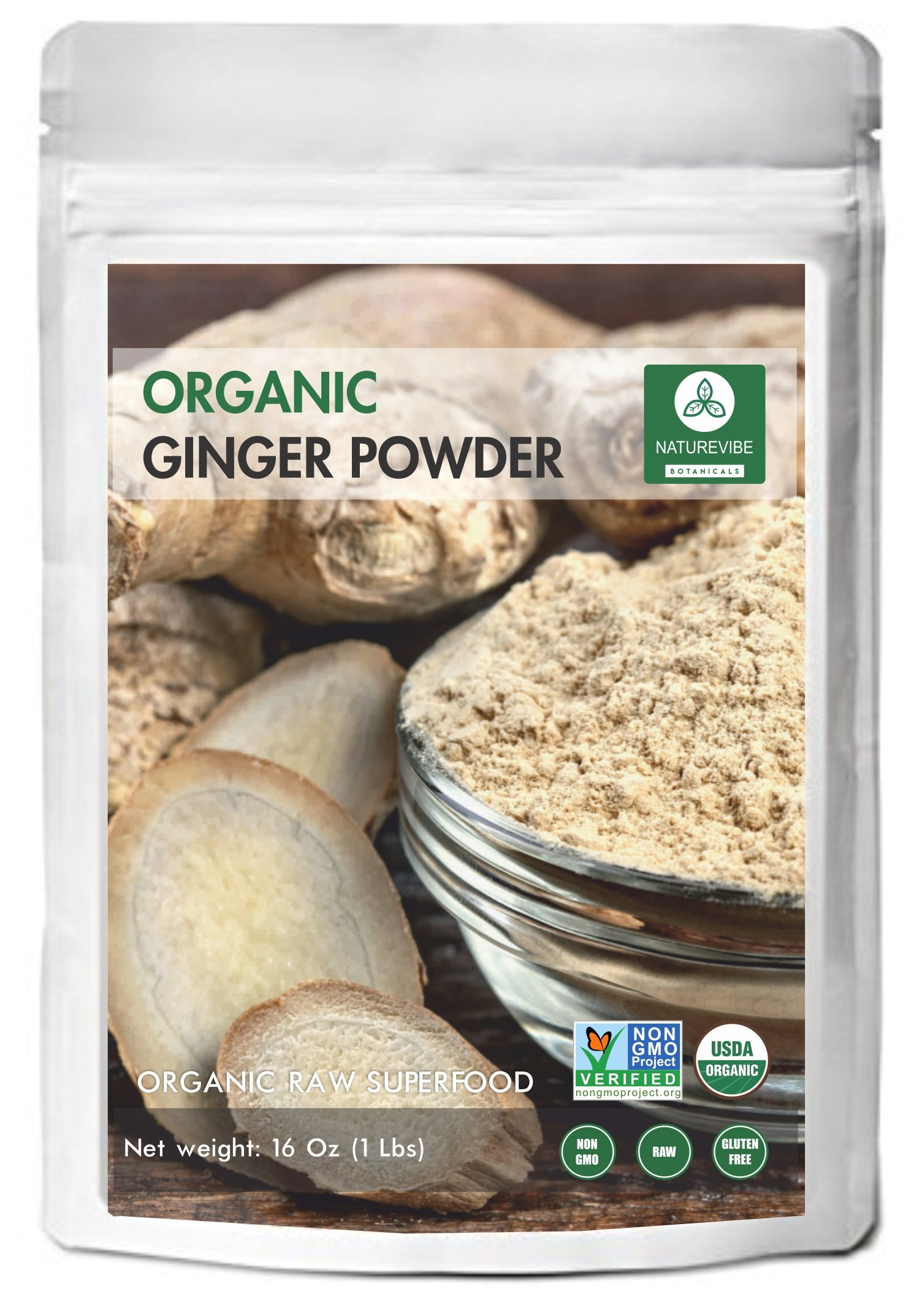 Ginger Root Powder (1lb), Organic Ground, Gluten-Free & Non-GMO