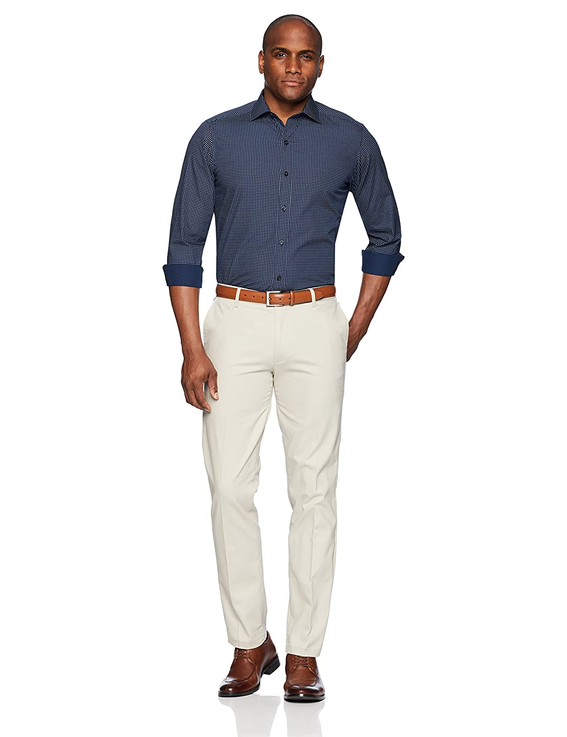 Brand BUTTONED DOWN Mens Tailored Fit Supima Cotton Dress Casual Shirt