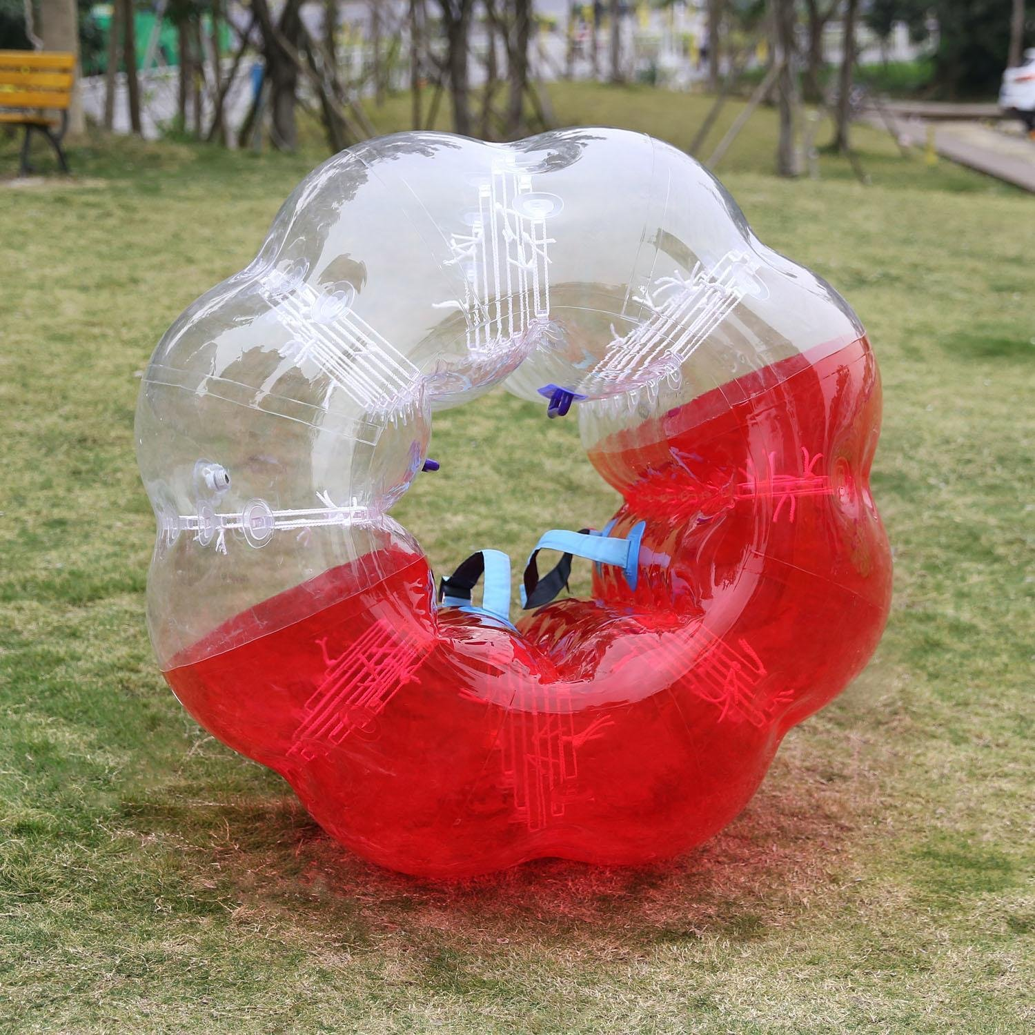 Mewalker Giant Inflatable Bumper Ball 0.8MM TPU Bubble Soccer Ball Zorb Ball Human Hamster Ball With 2 Handles 2 Adjustable Shoulder for Children Kids Adults Playground Outdoor (1.2M-1.5M,US STOCK) by Mewalker (Image #5)