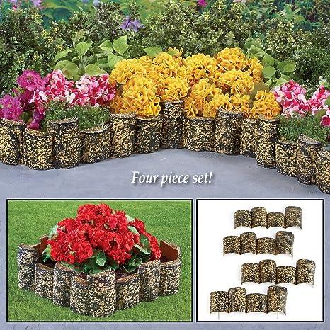 Faux Wood Garden Edging Set Of 4