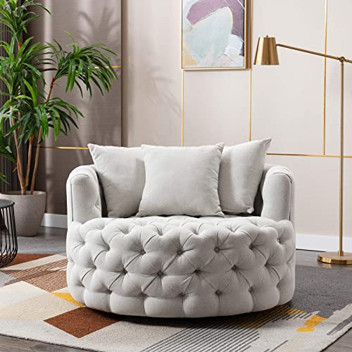 Pannow Modern Akili Swivel Accent Sofa Barrel Chair