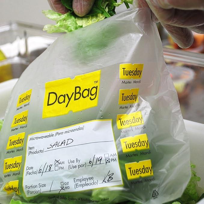 Amazon.com: DayMark Day of The Week Trilingual Portion Bag ...
