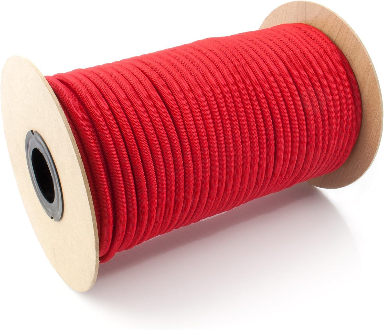 100m GUMMISEIL 4mm Expanderseil ROT Gummischnur Gummikordel Gummiseile Spannseil Planenseil Gummileine Seil Plane Netz