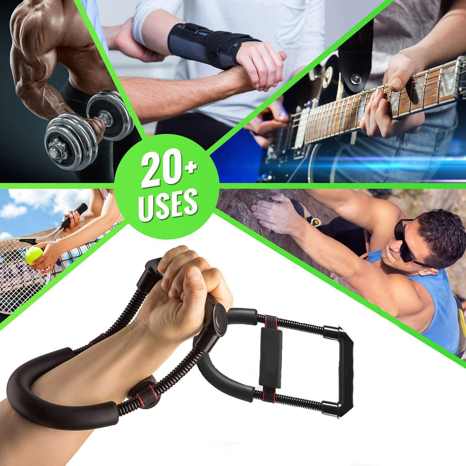 ALIXIN-Forearm Wrist Arm Flexor Exerciser Strength Strengthener Training Tools,Heavy Duty Carbon Steel Spring,Wide Design Non-Slip Cushion,Reduce Pain Speed Up Recovery For Athletes,Pianists Kids.