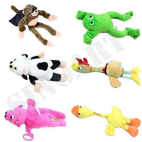 Amazon Com Sinoart 6pcs Set Slingshot Flingshot Animal Toy For Kids