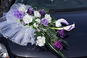 Autoschmuck Hochzeit Blumengesteck Autodeko Brautauto Dekoration