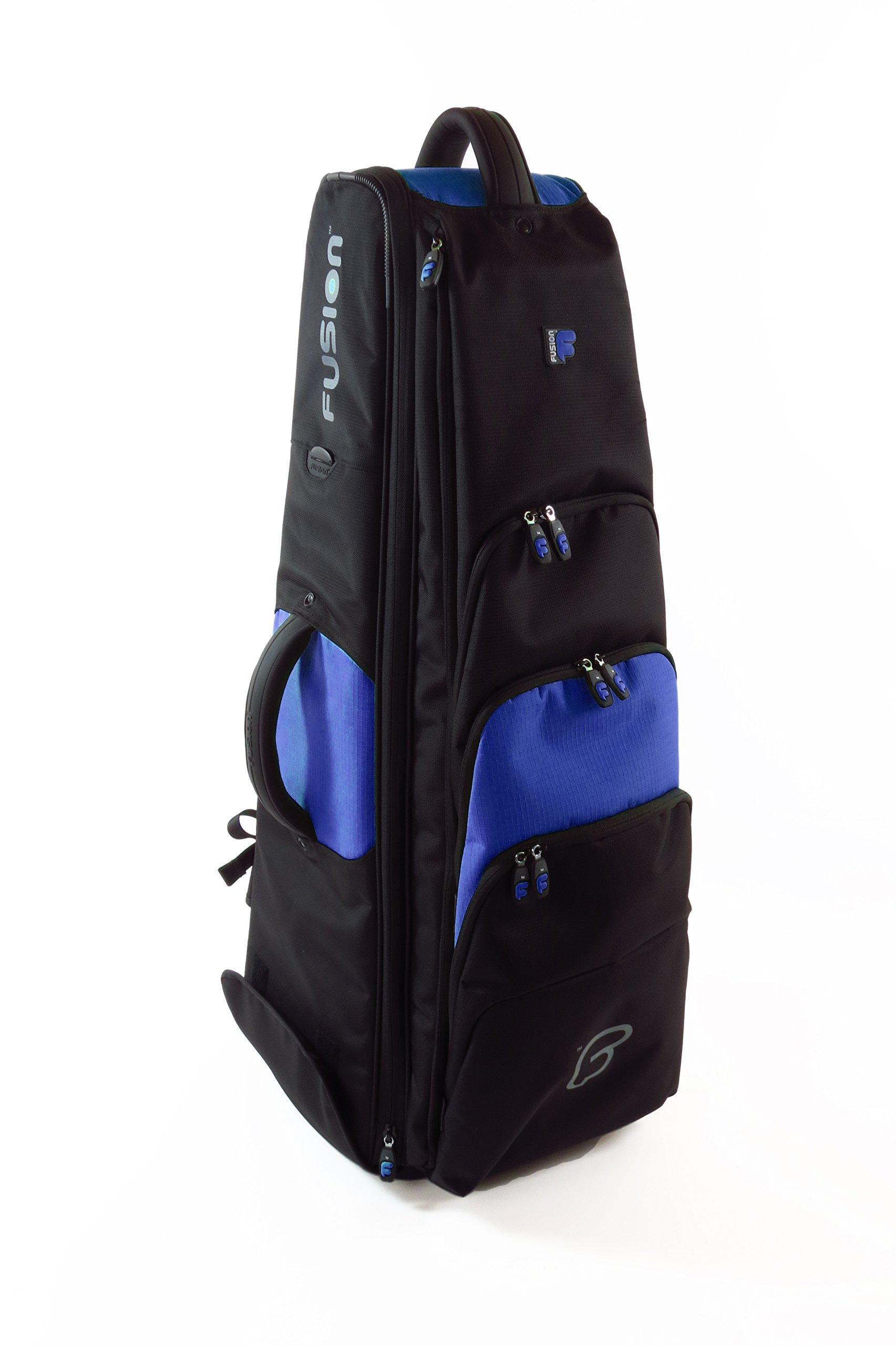 Fusion PB-16-B Premium 10.5-Inch Bass Trombone Gig Bag, Black/Blue