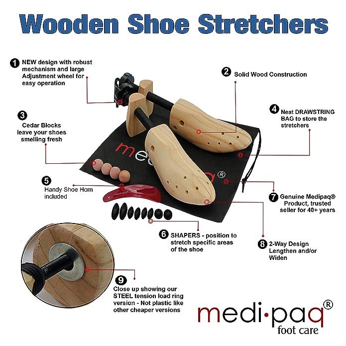 Medipaq - Estirador de zapatos para HOMBRES x2 + ¡Moldeador GRATIS! ¡Ponle un final a tus juanetes y ampollas!: Amazon.es: Zapatos y complementos
