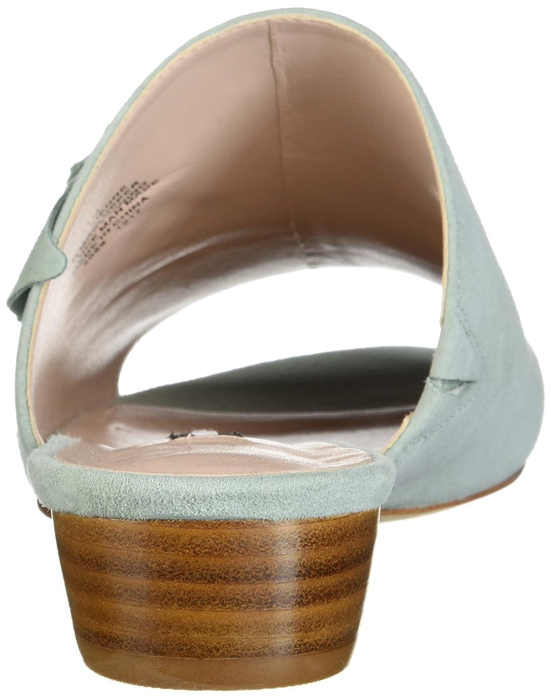Nine West Women's Lucienne Suede Slide Sandal B074PY4YRY 7.5 B(M) US|Light Green Suede
