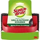 3M 7721 Scotch-Brite Heavy Duty Outdoor Scrubber, Ideal for Concrete, Patio Bricks, BBQ Tools and Charcoal and Gas…