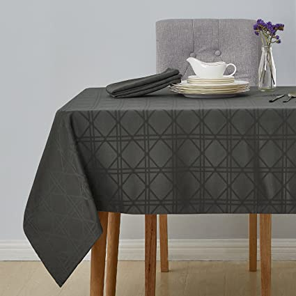 Superbe Deconovo Decorative Jacquard Square Tablecloth Wrinkle And Water Resistant  Spill Proof Tablecloths With Geometric Patterns