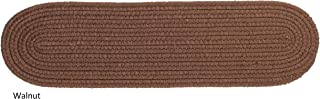 """product image for Rhody Rug Woolux Wool Braided Reversible Stair Treads (Set of 4) - 8"""" x 28"""" Oval Walnut"""