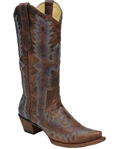 Women's Full Stitch Cowgirl Boot Snip Toe - A2902