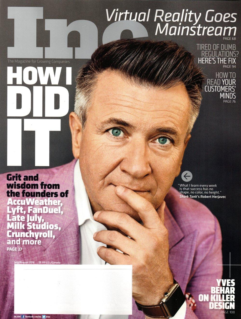 Inc Magazine July August 2016 Robert Herjavec How I Did It Staff Inc Amazon Com Books