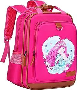 "Mermaid Backpack for Girls 15"" | Durable and Functional School Kids Book Bag, Perfect Bag for Kindergarten or Elementary"