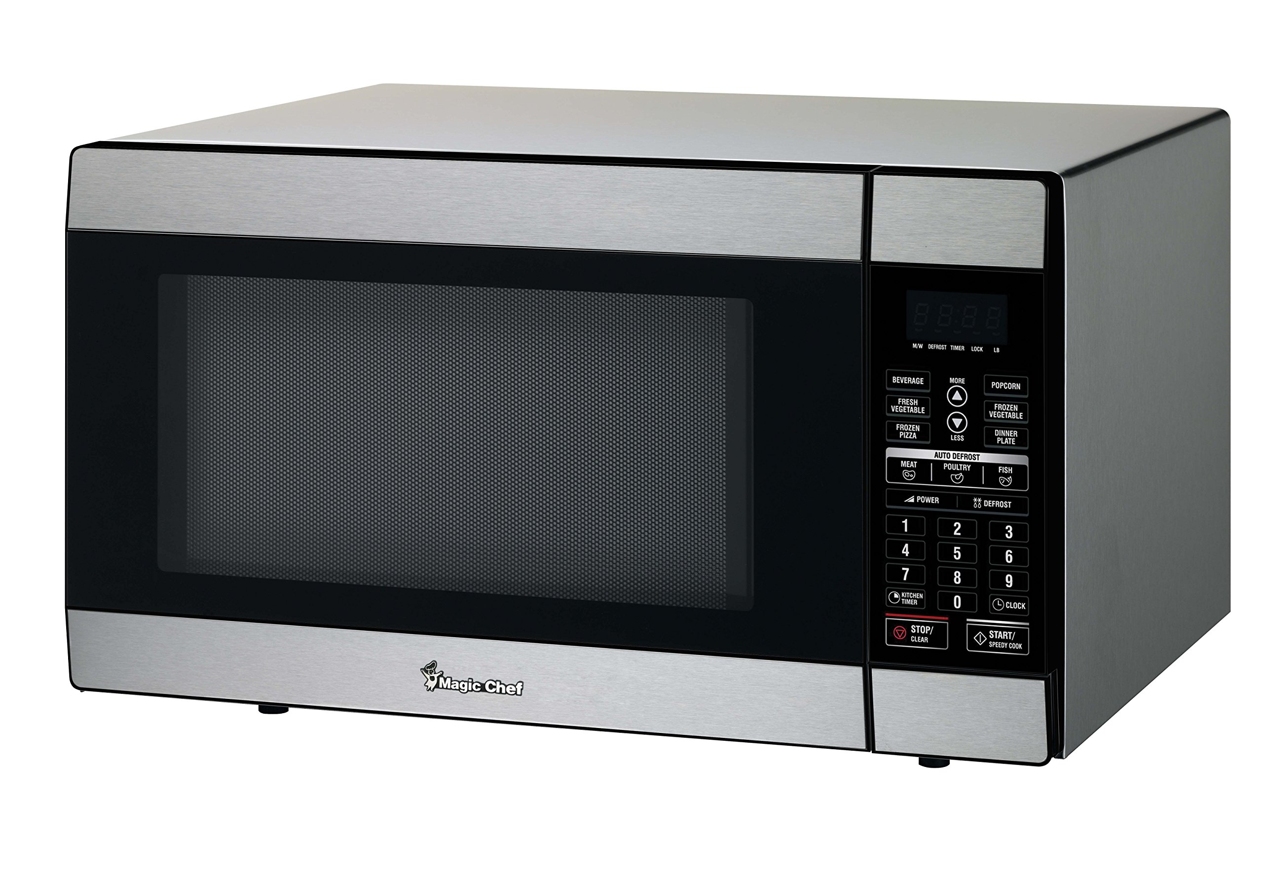 Magic Chef MCD1811ST 1.8 Cu. Ft. 1100W Countertop Microwave Oven in Stainless Steel, Silver by Magic Chef