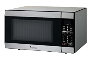 Magic Chef MCD1811ST 1.8 Cu. Ft. 1100W Countertop Microwave Oven in Stainless Steel Silver