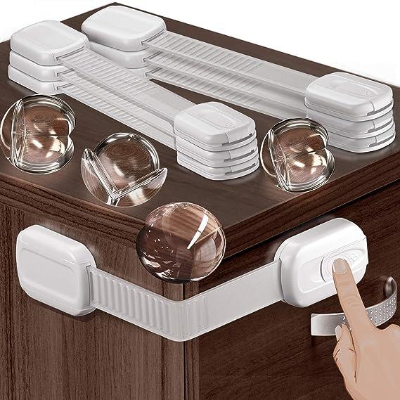 2 X Baby Kids Safe Lock Door Cupboard Proof U Cabinet Safty Locks