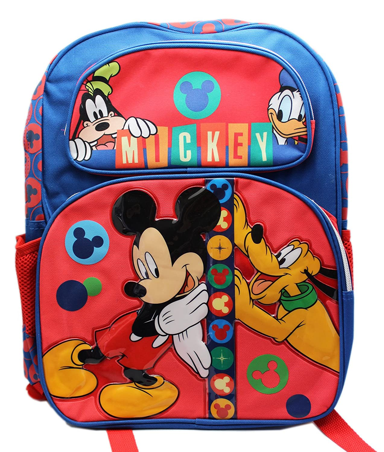 Backpack - Disney - Mickey Mouse and Friends New School Bag 652739 B00ZVFH2GY