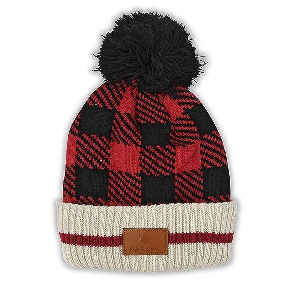 Canada Plaid Warm Winter Hat Beanie True North Travel Tuque (Kids)   Amazon.ca  Clothing   Accessories c6059c86c20