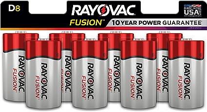Rayovac D Batteries Alkaline D Cell Batteries 8 Battery Count