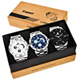 Espoir Combo of 3 Analogue Multicolor Dial Mens Watches-Combo 109 Espoir Bahubali