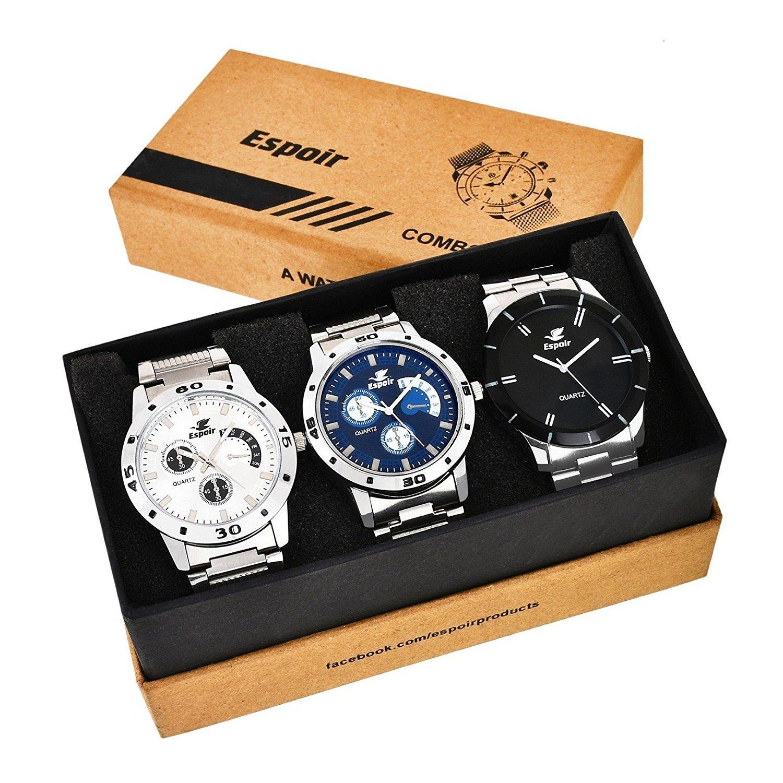 Espoir Analog Multi-Colour Dial Men's Watch - Combo 109