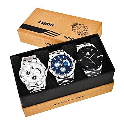 Analog Multi-Colour Dial Men's Watch - Combo 109 Bahubali