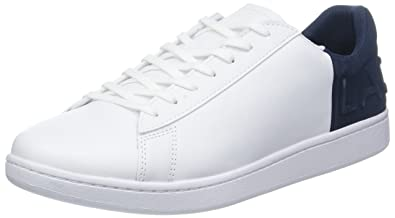 8529aeed Amazon.com | Lacoste Mens White/Navy Carnaby EVO 318 6 Sneakers ...