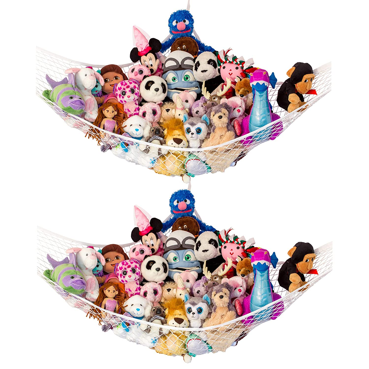 "Lilly'S Love Stuffed Animal Storage Hammock - Large Pack 2 -""Stuffie Party Hammock"""