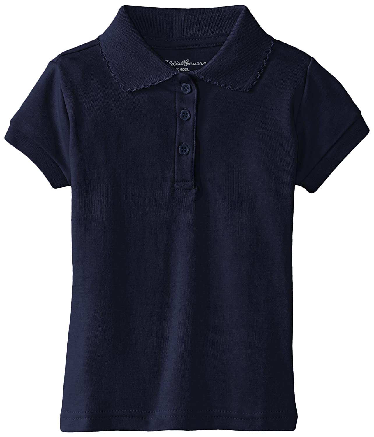 Eddie Bauer Girls Short Sleeve Interlock Polo HC63