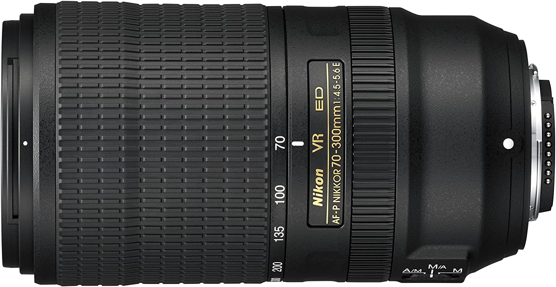 Nikon AF-P 70–300mm f/4.5–5.6E ED VR Teleobjetivo para DSLR, Negro [Nital Card: 4años de garantía]