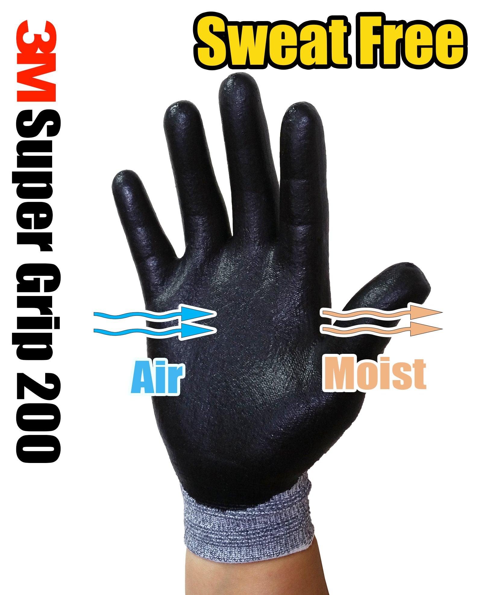 3M Super Grip Garden Work Gloves- 3 PACK (Extra Large) by 3M Super Grip (Image #6)