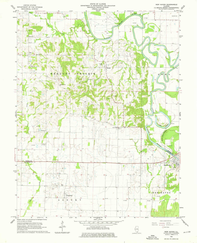 Amazon.com : YellowMaps New Haven IL topo map, 1:24000 Scale, 7.5 X ...