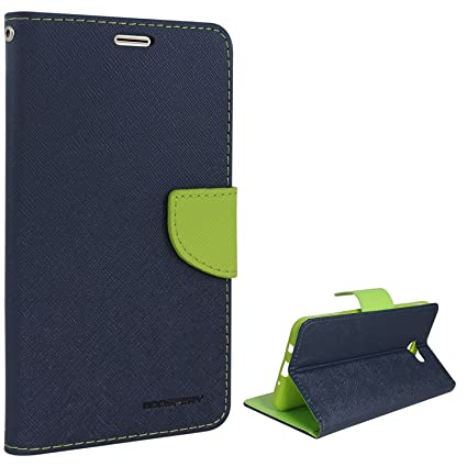 buy online e7d9c eea18 ERITUltra Compact with Stand, Credit Card Slots and Wallet Flip Cover for  Samsung J7 Prime (Green Blue)