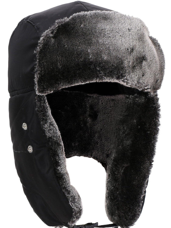 843f2ec79055e Amazon.com  Unisex Hunting Hat Faux Fur Trooper Hat with Windproof Mask