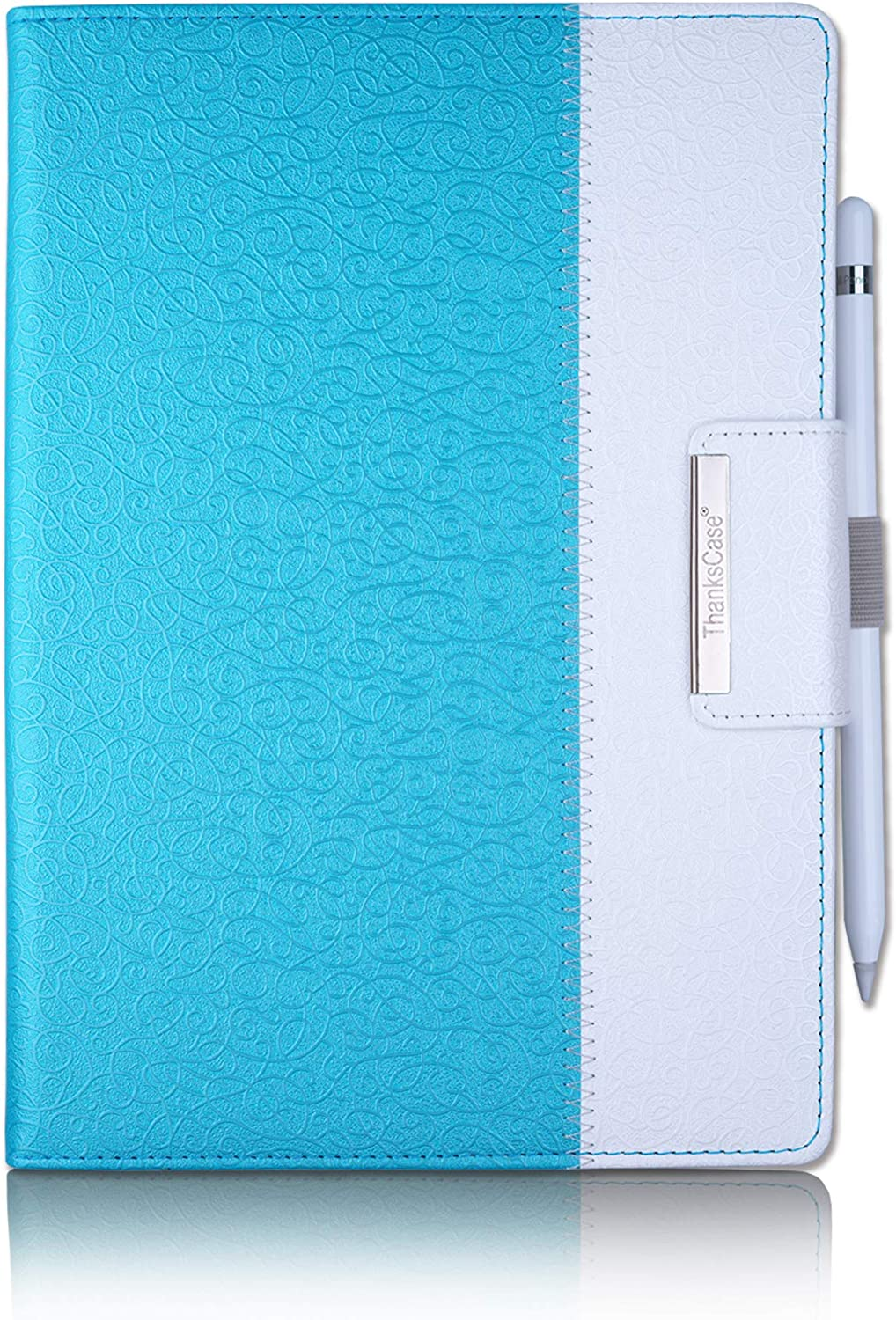 Thankscase iPad 9.7 inch 2018 2017 Case, iPad Air 2 Case, Rotating Case Smart Cover with Stand Build-in Wallet Pocket and Hand Strap for Apple iPad 6th / 5th Generation, iPad Air 2 (Teal Blue)
