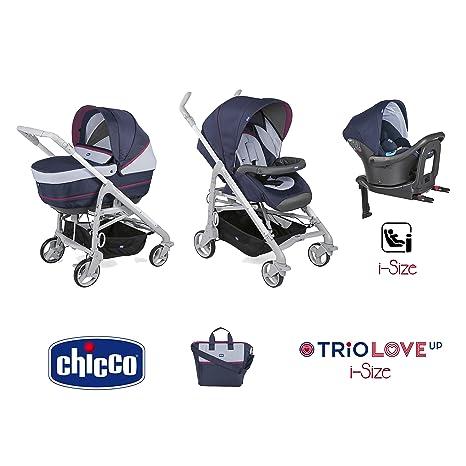 Trio Love up i-size cochecito + portabebés + siège-auto Earl Grey –