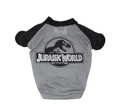 ab27cbbe Amazon.com : Jurassic World Logo Tee for Dogs | Dinosaur Dog T-Shirt ...