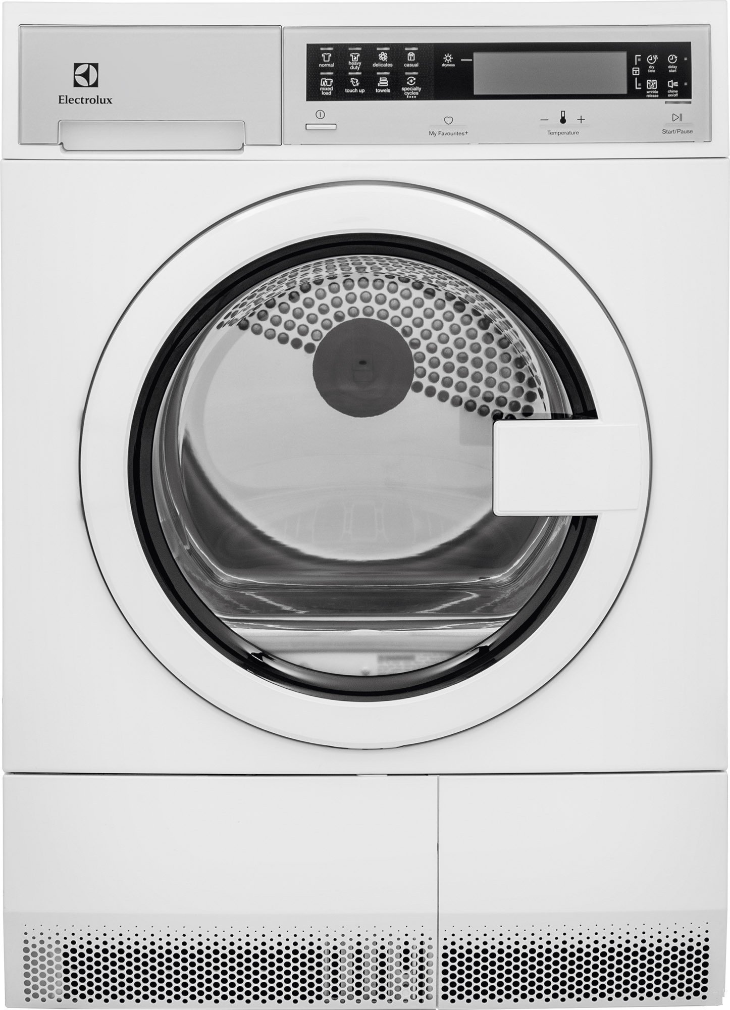 Electrolux EIED200QSW 24'' Compact Front Load Electric Dryer with 4.0 cu. ft. Capacity Stainless Steel Tub 7 Drying Cycles 4 Temperature Settings Delay Start Reversible Door and LED by Electrolux