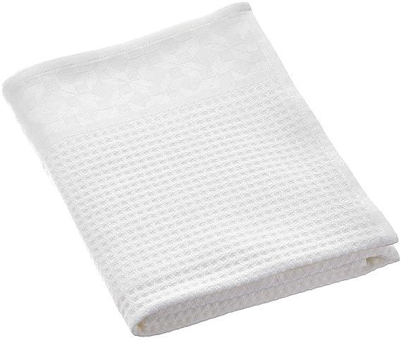 Le Jacquard Francais 22278 toalla de baño polygones algodón blanco 90 x 150 cm: Amazon.es: Hogar