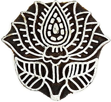 Knitwit Dog Hand Carved Printing Block Wooden Textile Wood Stamp Block 1 Piece Indian