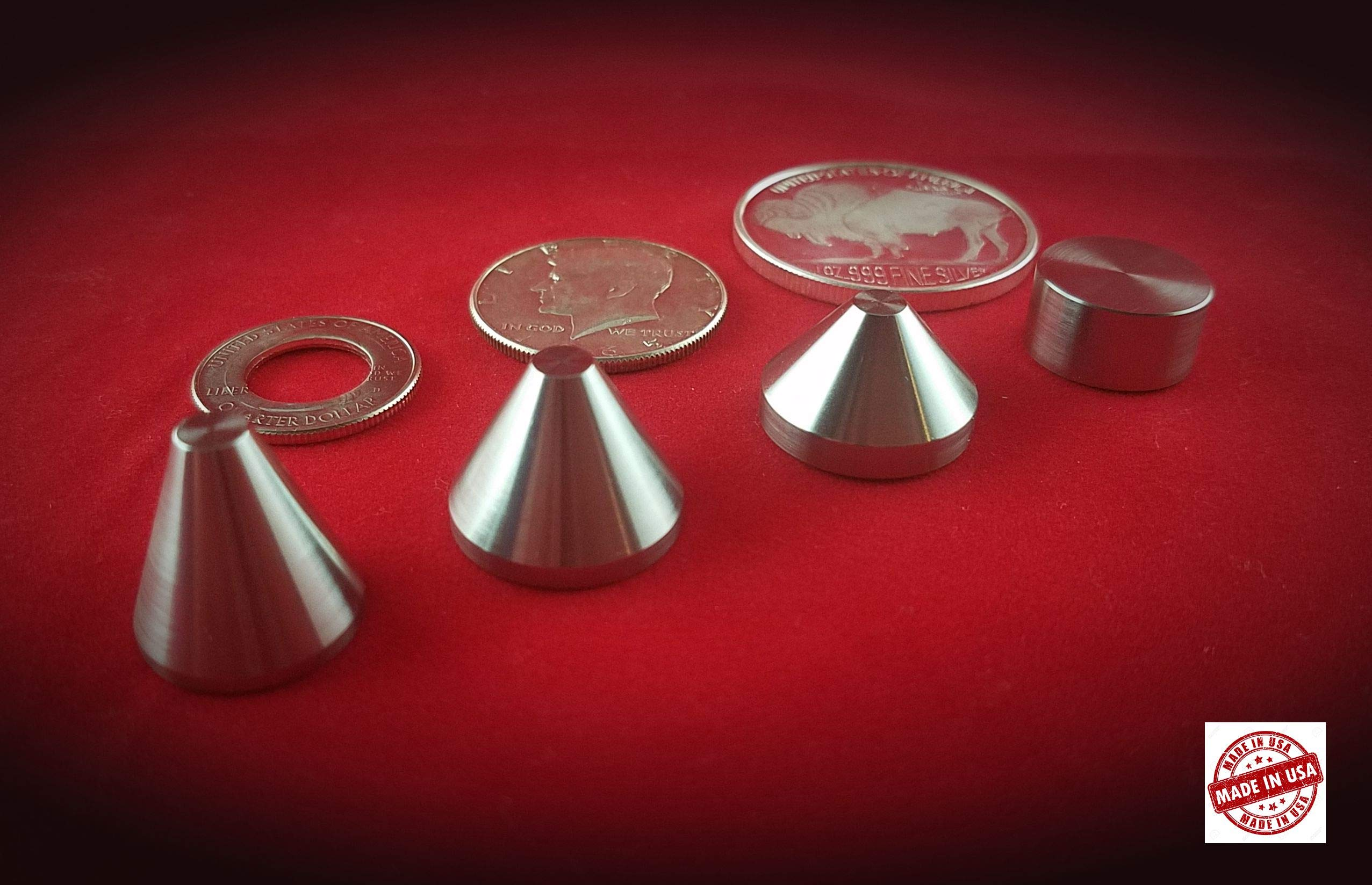 3 Stainless Steel Stabilizing Folding Cones(20,30,40 Degrees) Plus 1 Spacer by JMM Tech Inc