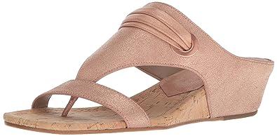 b41d849c5 Donald J Pliner Women's Dionne Wedge Sandal, Rose Gold, 6 Medium US
